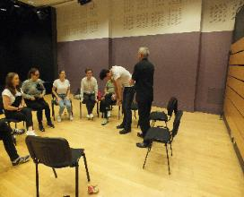 Running My Theatrical Movement Workshop For The  Cast Of David Walliam's Gangsta Granny